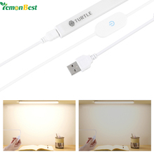 LemonBest Portable Slim Magnet Night Light 6W/8W/11W USB LED Lamp Bar with Touch Switch Stepless Brightness for Home Wardrobe