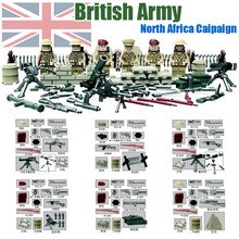 World War II WW2 North African Campaign United Kingdom British Eighth Army Small Toy Figure Military Building Block MOC Weapon
