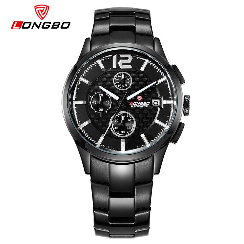 2017 Original LONGBO Brand Auto Date Function Mens Sport Watch Luminous Wristwatches Full Steel Women Watch Montre Homme Reloj<br><br>Aliexpress
