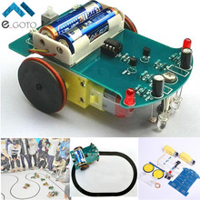 D2-1 DIY Kit Intelligent Tracking Line Smart Car Kit Suite TT Motor Electronic Production Smart Patrol Automobile Parts
