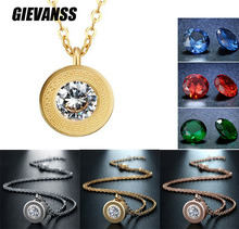 GIEVANSS womens pendant necklaces jewelry metal choker necklace for women replace crystal gold color chains necklaces