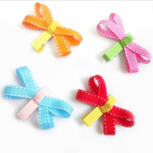 200pcs/lot BUTTERFLY Hair Clip (Ribbon Sculpture) - Summer Brights(China)