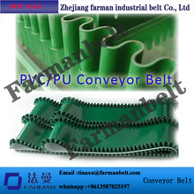 Latest Products In Market Inclined PU cleat conveyor belt with sidewall for all kinds of industry(China)