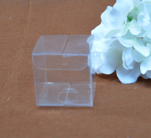 Size:4*4*4cm,small clear transparent favor box , clear pvc gift packing box ,wedding candy gift packaging pvc box transparent(China)
