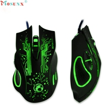 Hot-sale MOSUNX LED Optical USB Wired 2400 DPI Gaming Mouse For Pro Gamer For Computer PC Desktop Laptop Game Gifts Wholesale