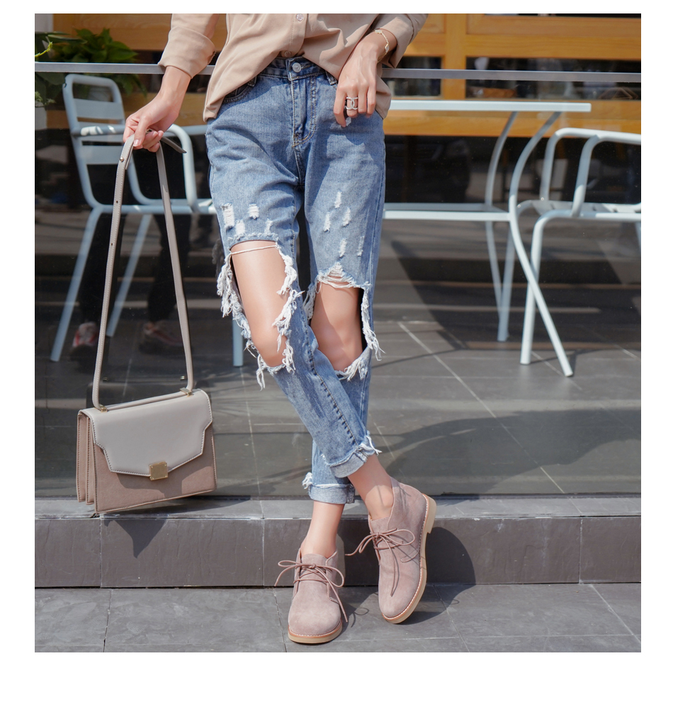 Donna-in Ankle Boots for Women Martin Boots Genuine Leather Shoes Flat Casual Booties Woman 2019 Spring Lace up Plus Size Ladies (2)