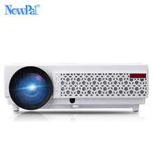 NewPal Projector 3000 Lumens LED Projector Set in Android4.4 WIFI Bluetooth AC3 Full HD 1080P Video Media Player 3D Beamer