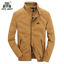 AFS JEEP 2017 Europe style men spring fashion casual brand khaki jacket coat man autumn business zipper jackets army green coats