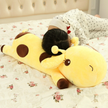 1pc Plush Lie Giraffe Pillow Staffed Deer Plush Toy Nap Pillow Christmas Gift High Quality