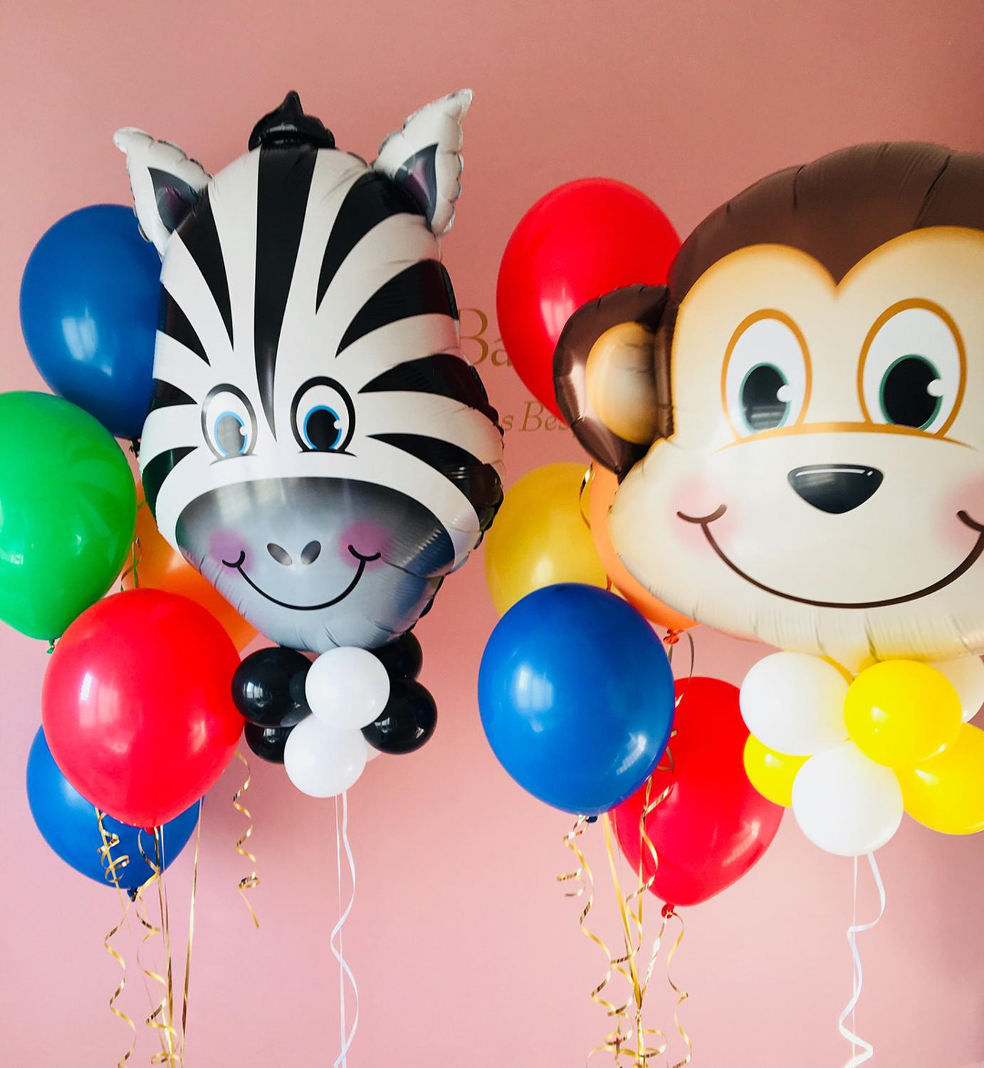 50Pcs 12 Inch Mixed Jungle Animal Safari Party Balloons Birthday Decor