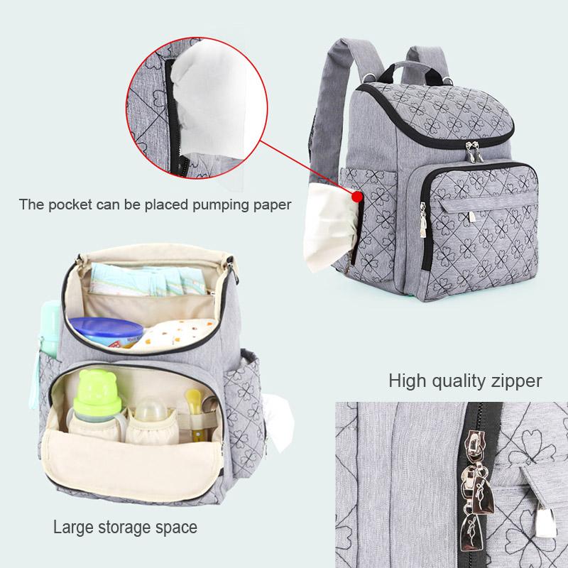 Diaper Bag Fashion Mummy Maternity Nappy Bag Brand Baby Travel Backpack Diaper Organizer Nursing Bag For Baby Stroller Wetbag (5)