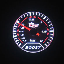 UNIVERSAL 2 INCH(52MM) White light sunglasses CAR TURBINE TURBO BOOST GAUGE Free shipping(China)