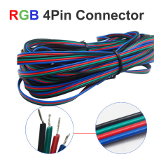 1M-100M 4pin RGB Led StripChannels LED RGB Cable Wire For 5050 3528 Strip Light Extension Extend Wire Cord Connector