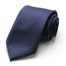 Free Shipping Cheap South korean silk commercial formal tie marriage tie 8cm tie dark blue fine stripe(China)