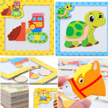 Animal magnetic 3d puzzle jigsaw Building Puzzle Toy Learning Alphabet Puzzle Game for Preschool Kids baby toys for children
