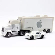 Disney Pixar Cars 2pcs/Lot Apple Mack Uncle Truck And 84 Apple Small Car 1:55 Diecast Metal Alloy Modle Toys Car Gift For Kids