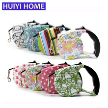Huiyi Home 5m Leash Dog 12 Colors Automatic Retractable Dog Leash Pet Products Dog Belt Pet Dog Accessories ENA012(China)