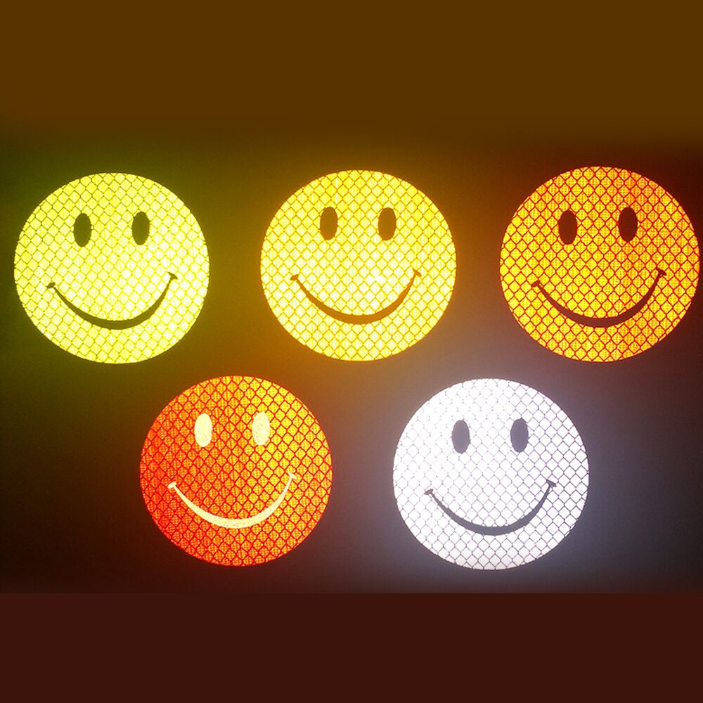 High quality Car Reflective Smiley Stickers