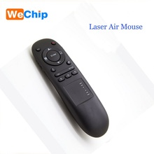 WeChip IR/RF 2.4GHz Wireless USB Laser AirMouse support Presenter Pointer Remote Control for Power Point PPT Touchpad Fly Mouse(China)