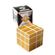 New Magic Cube 3x3x3 ShengShou Mirror Sticker Speed Puzzle Gold&Silver Cubo Magico Profissional Learning & Education Toys(China)