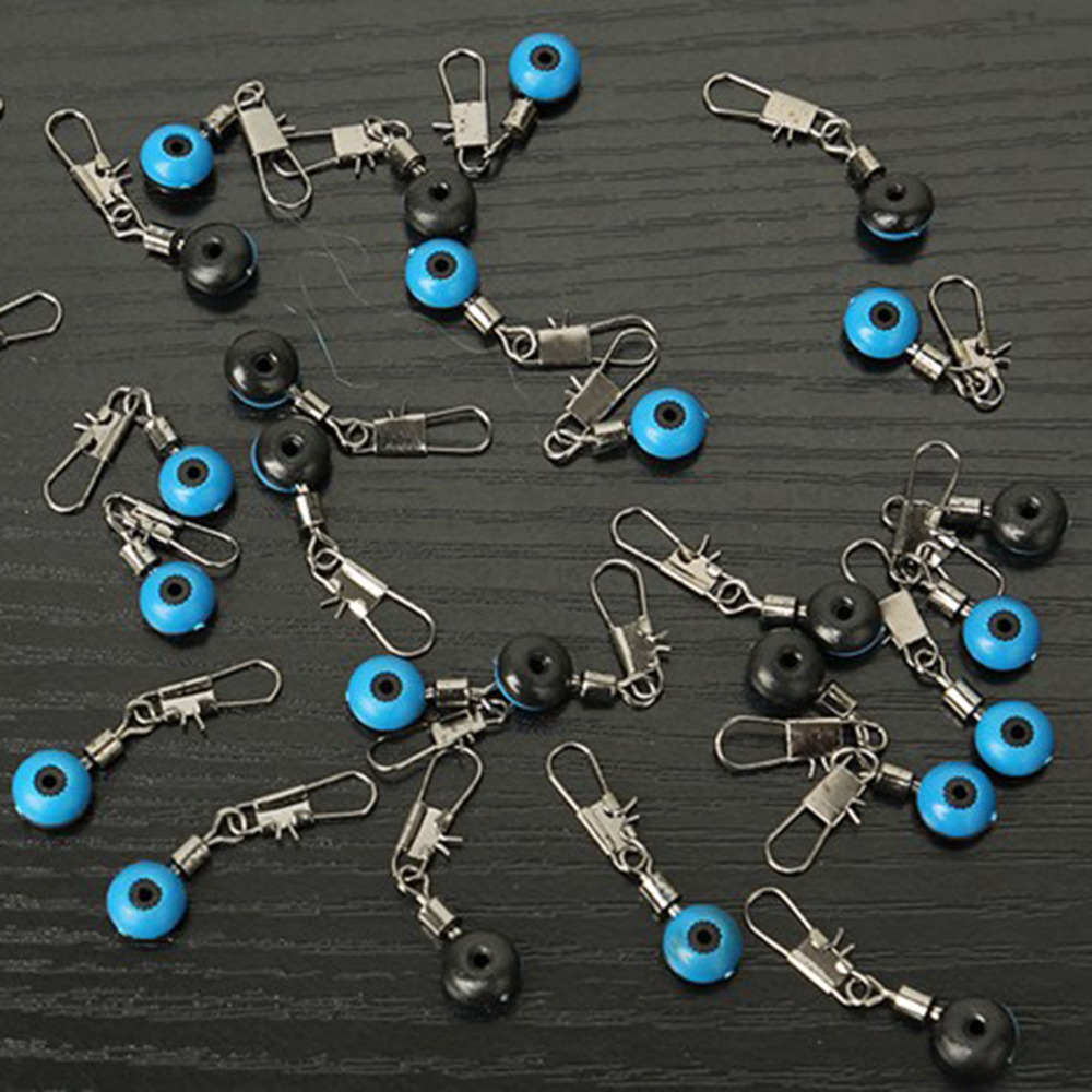 100pcs/lot Ball Swivel Fishing Pin Ring Connector Line Stopper Swivels Shank Clip Connector Interlock Snap Sea Space Bean Lure<br><br>Aliexpress
