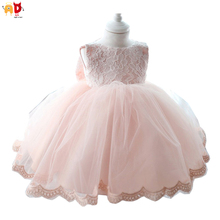 AD Baby Girls Ball Gown Dresses Evening Birthday Wedding Pageant Dancing Ballerina Party Baby Dresses Kids Clothes Formal 0-24M(China)