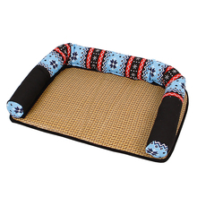 Fooktu Dog Beds Cat Mats Pet House Spring Summer Removable Cleaning Breathable Oxford Fabric Mattresses Kennel