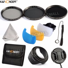 K&F CONCEPT 52/58/62/67/77mm ND2 ND4 ND8 Lens filter Kit+Pouch+Cleaning Cloth+Flash Diffuser Cover Canon Nikon Sony Pentax - Official Store store