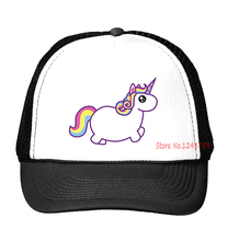 harajuku unicorn Print Baseball Cap Trucker Hat For Women Men Unisex Mesh Adjustable Size Tumblr Drop Ship M-120