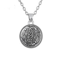 Dawapara Knotted Herons Irish Animal Pendant Necklace Accessories Symbol Of Harmony And Peace Jewelry(China)