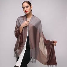 New luxury brand Plaid Winter Scarf Women Participate in party Fashion Ethnic Thicken Shawl foulard femme cachecol inverno