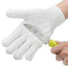 Cut Resistant Anti-cutting Gloves Wearable Anti-glass Scratches White Wire Work Gloves Safety Gloves Cut Metal Mesh Butcher(China)