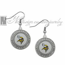Minnesota Vikings super bowl champion Enamel Earrings Rugby  Team Fans Dangle Earrings NE0729