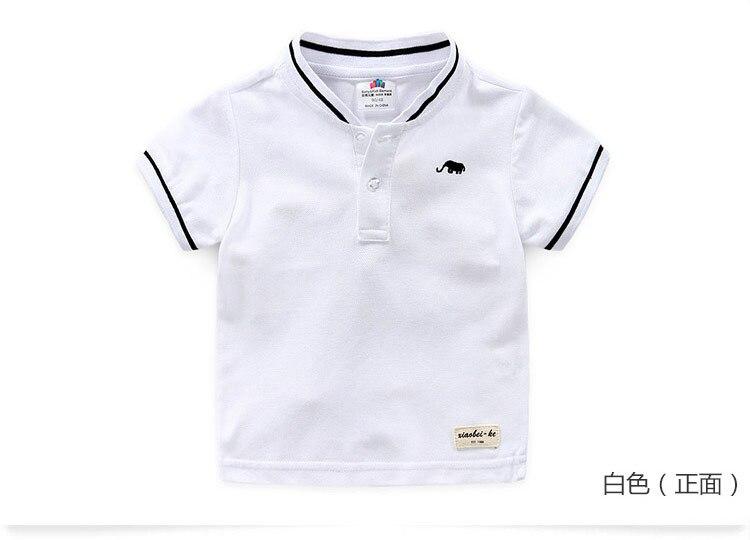Boys Clothes 2018 Hot Summer Novelty Cotton Cartoon Elephant Print Short Sleeve Mandarin Collar T Shirt Kids Boys (7)