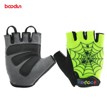 Boodun Shockproof Cycling Gloves children Kids MTB Road Bike Bicycle BMX Outdoor Sports Boys Girls Child - Golden Wheat Store store