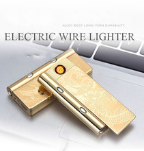 Latest Tesla Coil Arc Lighter USB Reachargeable Windproof Cigarette Lighter Flameless Electric No Gas Creative Multifunction(China)