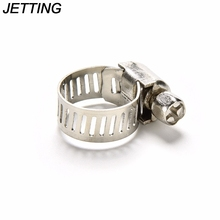 Adjustable 10PCS Spring Clamp 201 Stainless teel Cars Motorcycle Fuel Line Spring Hose Clamps Petrol Pipe Clips 8-12mm(China)