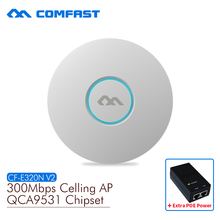 COMFAST wireless Ap CF-E320N-V2 300Mbps Ceiling AP 802.11b/g/n wifi router Indoor AP for big area wifi coverage Access Point AP(China)