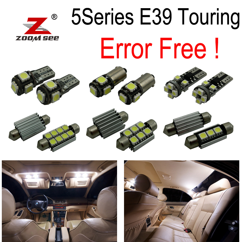 25pc canbus LED Interior dome overhead Light Kit for BMW E39 5 series Wagon Touring 520i 525i 525d 528i 530i 530d 540i (97-03)<br>