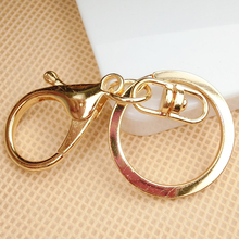 2pcs/lot Alloy Clasps Hooks Stickers for Phones DIY charms for Jewelry Findings materials Lobster clasp coil ring car key chain