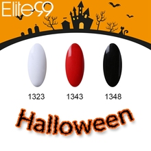 Elite99 UV Nail Polish Gel Lacquer 7ML Semi Permanent Polish Gel Varnish Classic Fashion White Black Red Gel for Halloween