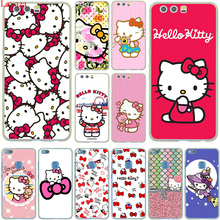 Fashionable Hello Kitty Hard Case Cover for Huawei P10 P9 Lite Plus P8 Lite G7 & Honor 8 Lite 7 4C 4X