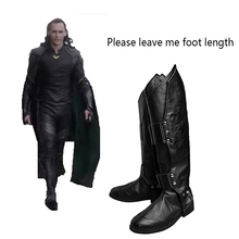 Buy Thor Ragnarok Cosplay Shoes Superhero Loki Laufeyson Cosplay Boots Adult Men Movie Hero Cosplay Costume Props Accessories Black for $49.50 in AliExpress store