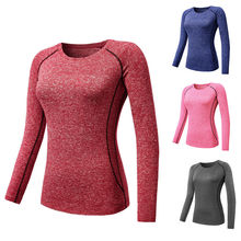 New Women Gym Yoga Shirts Sports Apparel Skin Tights Compression Base Layer 2016