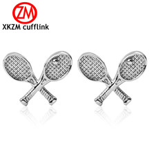Formal Tennis racket Cufflink for Mens Suits Buttons Geometric Wedding Cufflink French Grooms Shirt Brand Cuff Links(China)