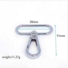 20PCS Curved Lobster Clasps Swivel Trigger Clips Snap Carabiner Lanyard Hook Hardware Backpack Keychain Camping Hike(China)