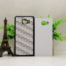 for SAMSUNG GALAXY A8 A710 J710 J7 Prime  2D Soft  Rubber TPU DIY sublimation case with aluminium metal sheet Glue 100pcs/lot