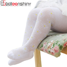 BalleenShiny Baby Stocking Flower Girls Cute Infant Cotton Toddler Anti-slip Thin Soft Tights Infantile Fashion Spring Summer(China)