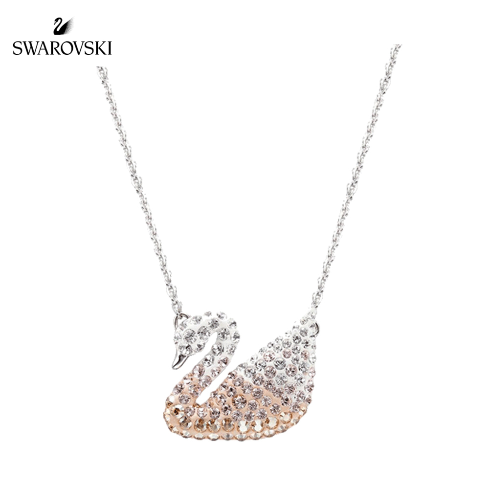 Swarovski  Lady's Gradient Swan Necklace 5215034 Clavicle Chain Womens Crystal Necklace 5215038