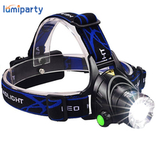 Hot HP79 Head light Head lamp Cree XM-L T6 led 3000LM rechargeable Headlamps Headlights lamp lights